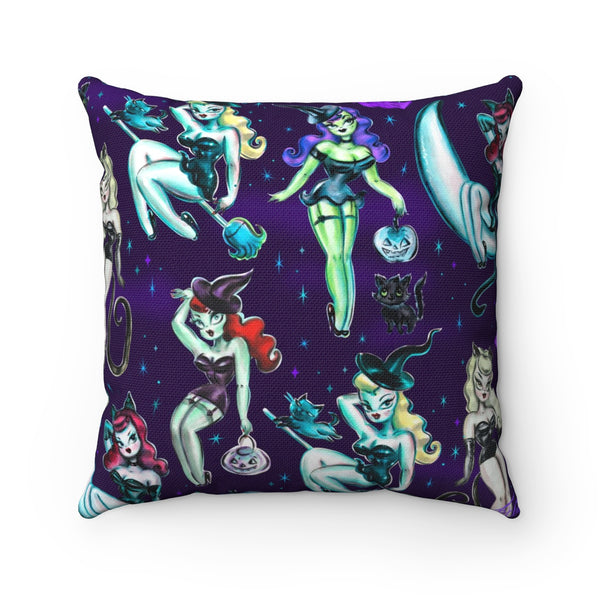 Witches and Black Cats • Square Pillow
