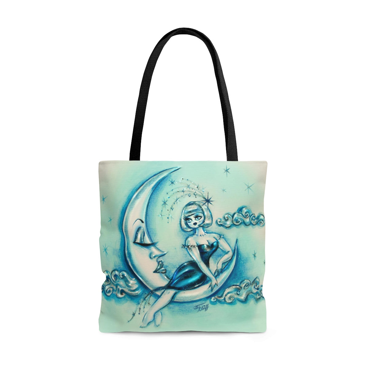 Girl on the Moon • Tote Bag