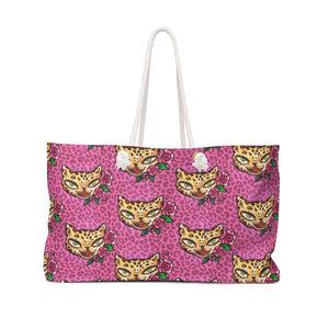 Leopard Kitty • Weekender Bag