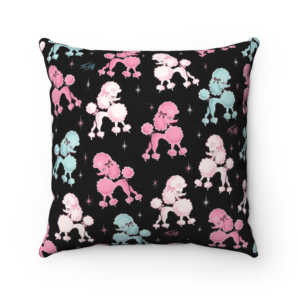 Poodle-rama • Square Pillow