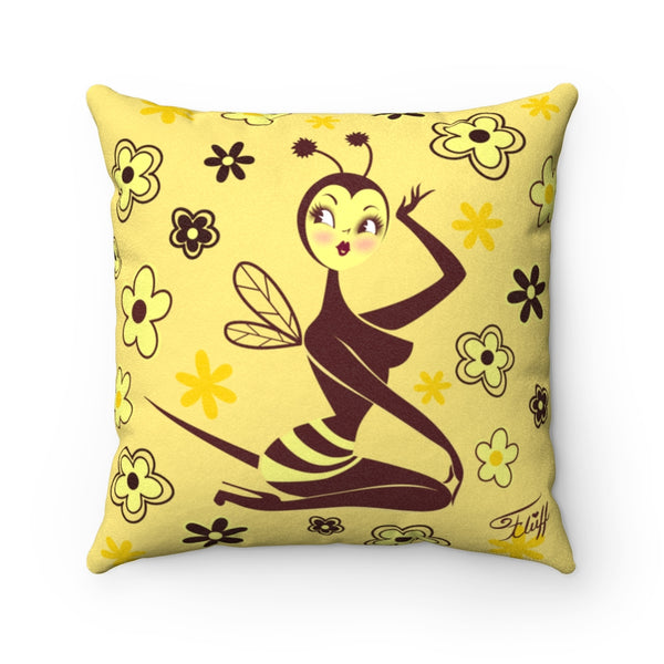 Bee Girl  • Faux Suede Pillow