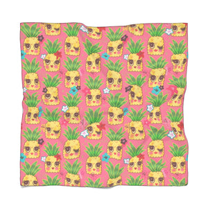 Happy Kawaii Cute Pineapples on Pink • Scarf