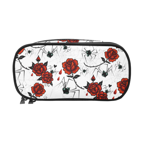 Black Widows and Roses • Double Zip Cosmetic Bag