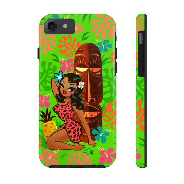 Tiki Temptress in Pink Leopard Print • Phone Case