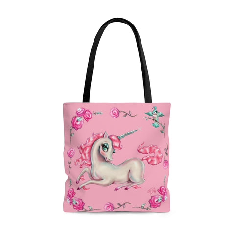 Unicorns and Roses on Pink • Tote Bag