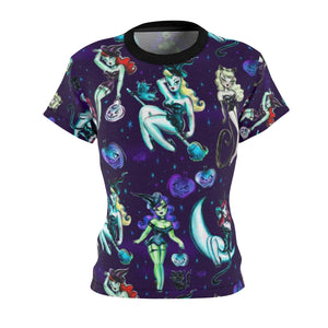 Witches and Black Cats • Women's Cut & Sew Tee