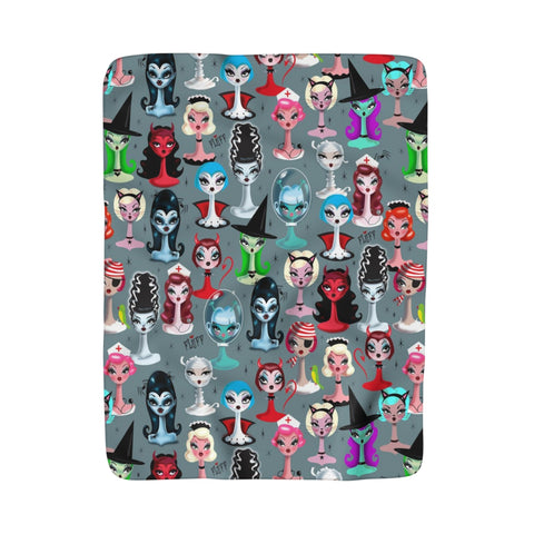 Spooky Dolls • Sherpa Fleece Blanket