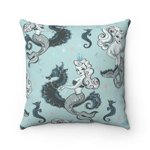 Pearla on Sea Foam • Square Pillow