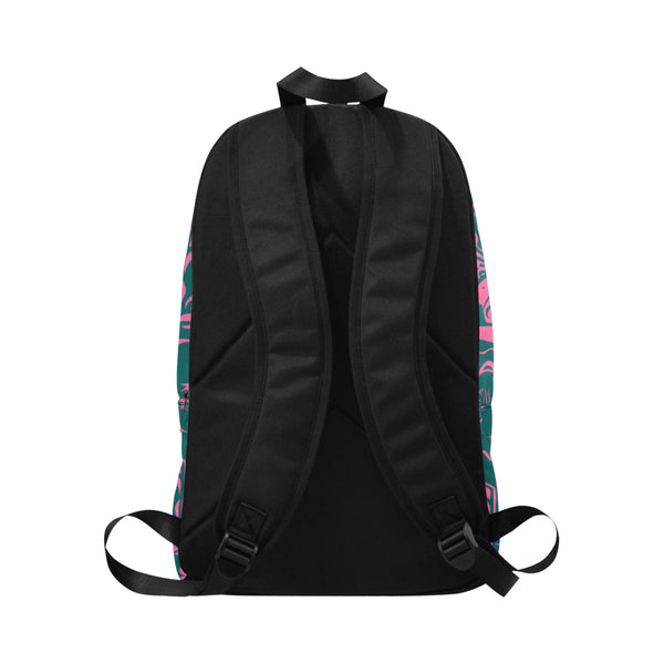 Tiki Temptress Pink and Teal • Backpack