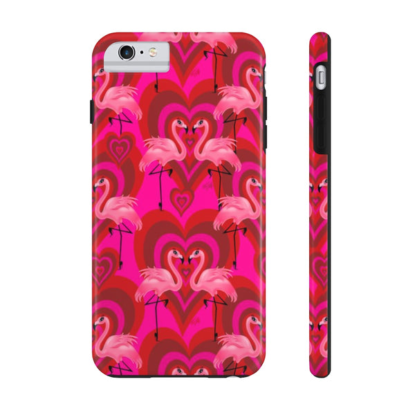 Flamingo Love Pattern • Phone Case