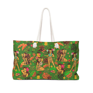 Tiki Temptress on Green • Weekender Bag