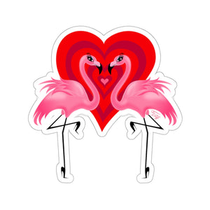 Flamingo Love • Kiss-Cut Sticker