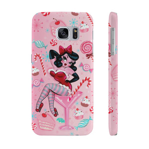 Candy Cane Martini Girl • Case Mate Galaxy S7 & S9 Slim Phone Case