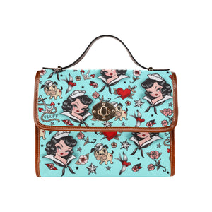 Suzy Sailor Light Blue • Canvas Mini Retro Case