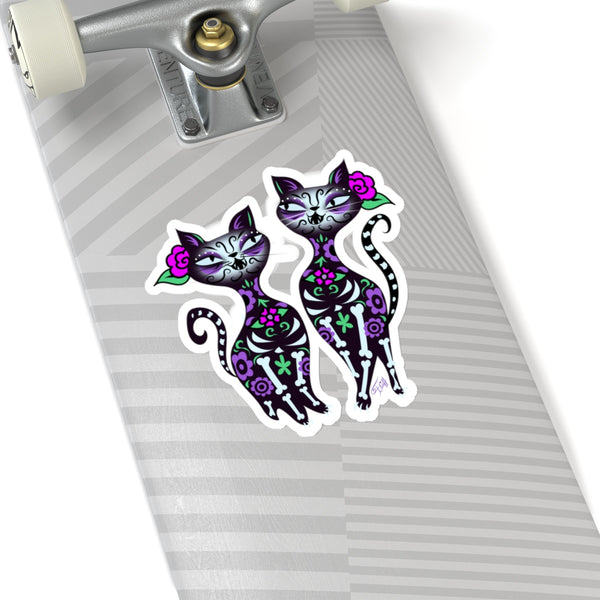 Sugar Skull Cats • Kiss-Cut Sticker