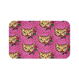 Leopard Kitty • Bath Mat