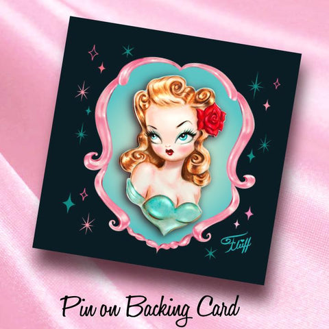Rockabilly Baby Doll Enamel Pin • Limited Edition