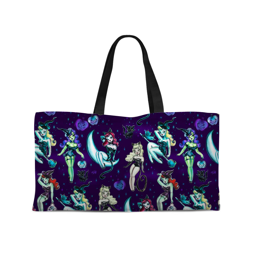 Witches and Black Cats • Weekender Tote