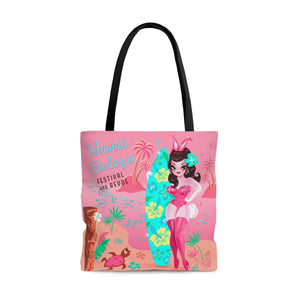 Hawaii Burlesque Festival Beach Bunny • Tote Bag with Title