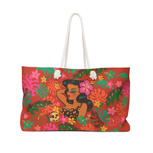 Tiki Temptress - Tropical Doll • Weekender Bag