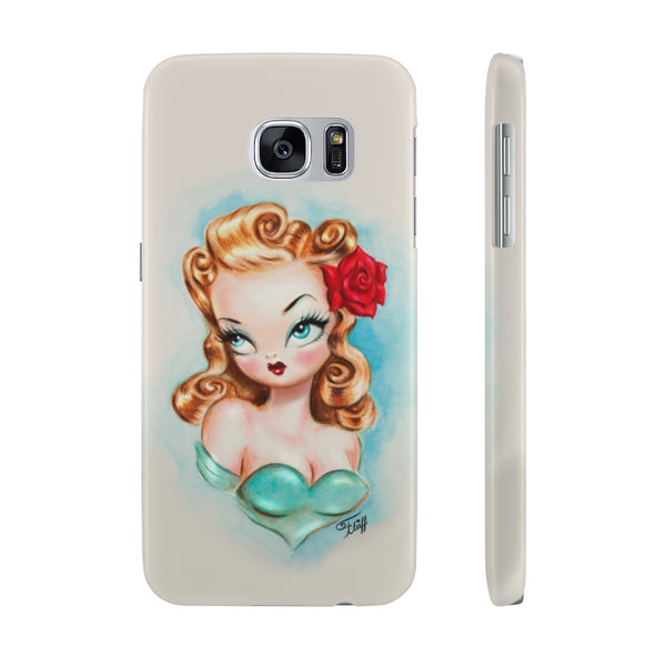 Rockabilly Babydoll Blonde • Case Mate Slim Phone Case