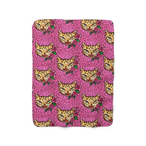 Leopard Kitty • Sherpa Fleece Blanket