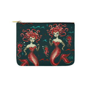 Red Medusa Mermaid • Carry All Pouch