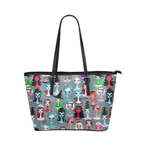 Spooky Dolls • Faux Leather Tote Purse