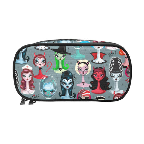 Spooky Dolls • Double Zip Cosmetic Bag