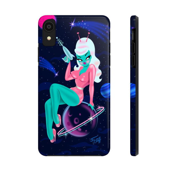 Alien Girl on Saturn • Phone Case