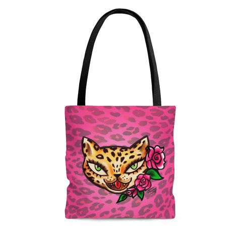 Lady Leopard Kitty • Tote Bag