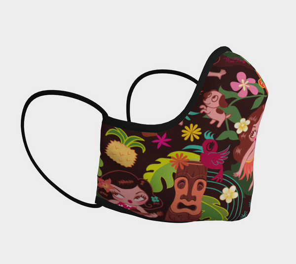 Hula Cuties • Face Mask with Filter Pocket