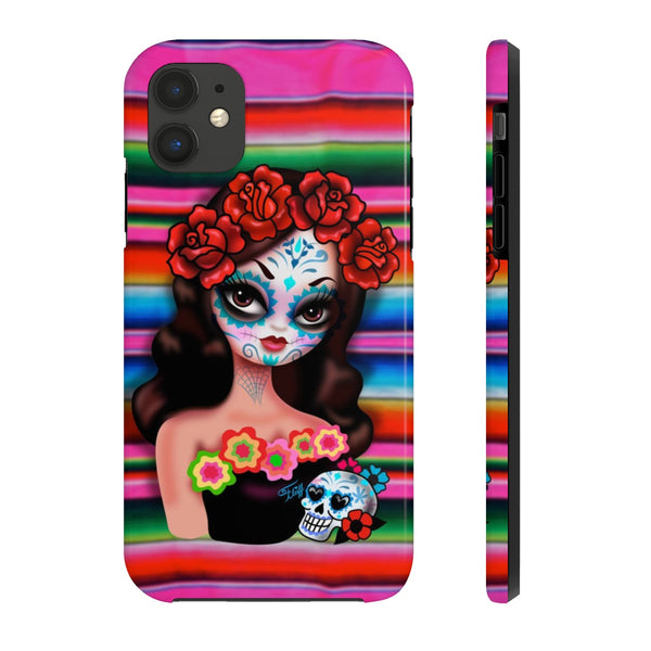Day of the Dead Girl on Sarape • Phone Case