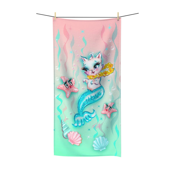 Merkitten with Lei and Starfish • Towel