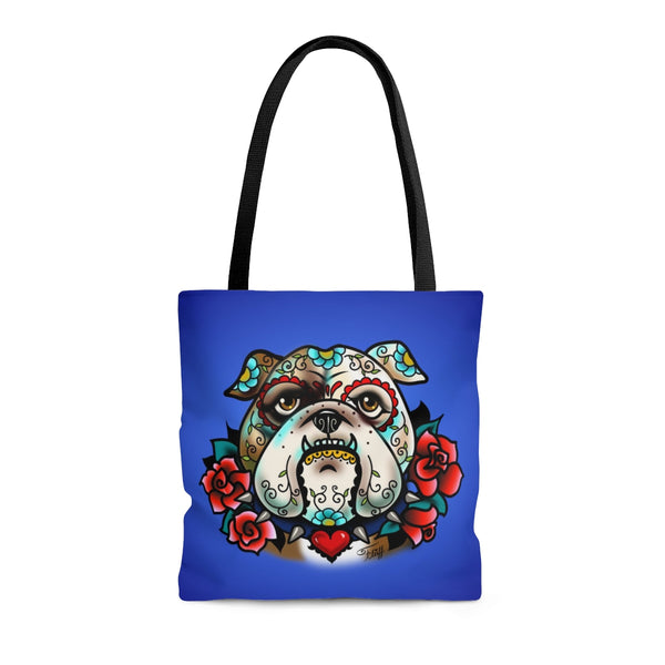 Sugar Skull Bulldog • Tote Bag