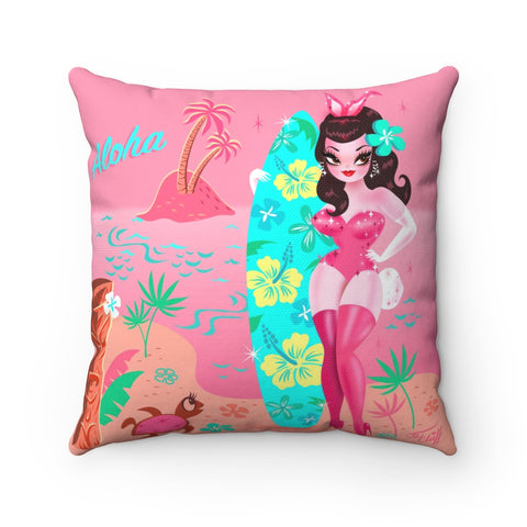 Hawaii Burlesque Festival Beach Bunny • Square Pillow