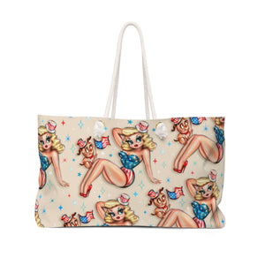 Patriotic Pinup Girl • Weekender Bag