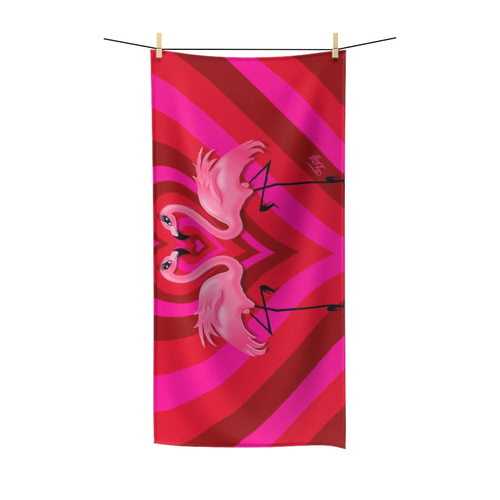Flamingo Love • Towel