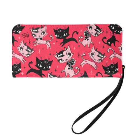 Devil Kitties Red • Clutch Wallet