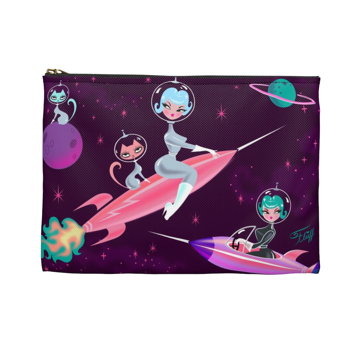 Rocket Girl • Carry All Pouch - Flat