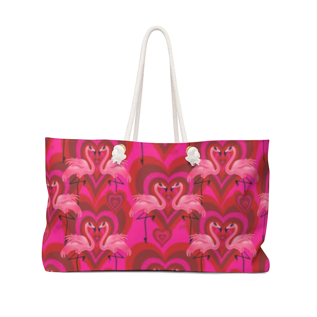 Flamingo Love Pattern • Weekender Bag
