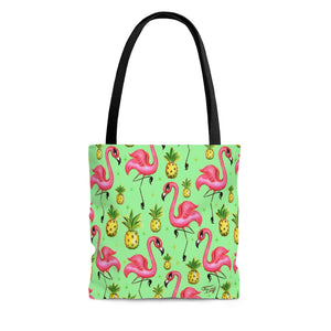 Flamingos and Pineapples • Tote Bag