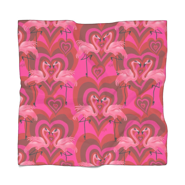 Flamingo Love Pattern • Chiffon Scarf