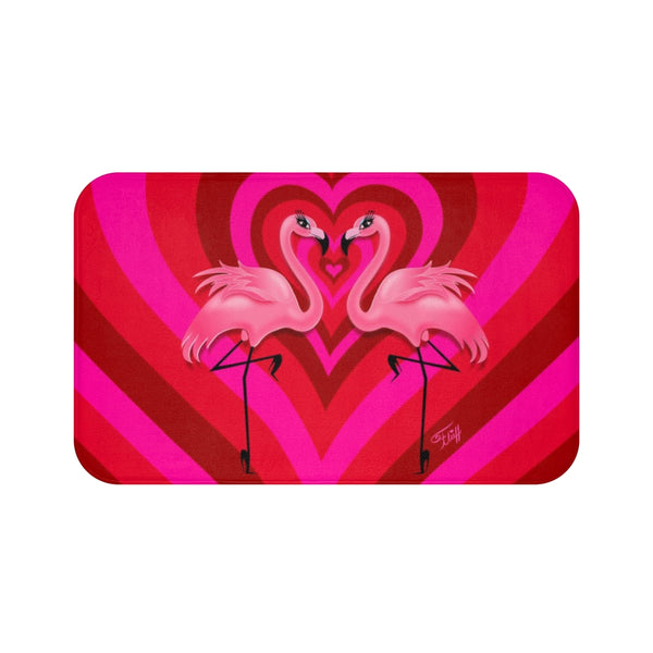 Flamingo Love • Bath Mat