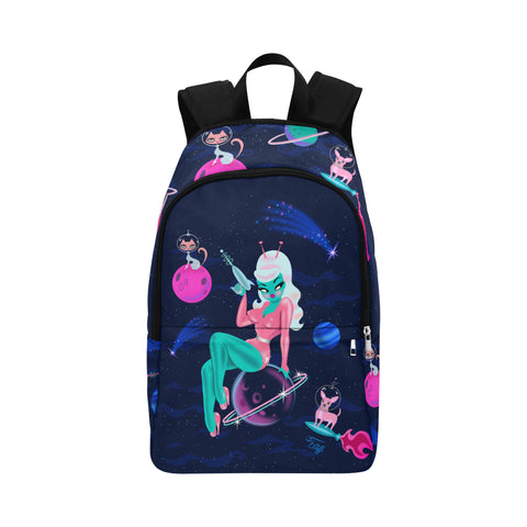 Alien Girl on Saturn • Backpack