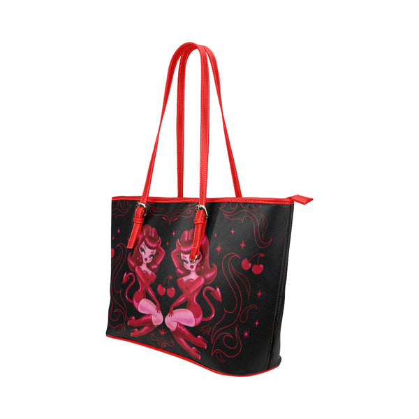 She Devil • Faux Leather Tote Purse