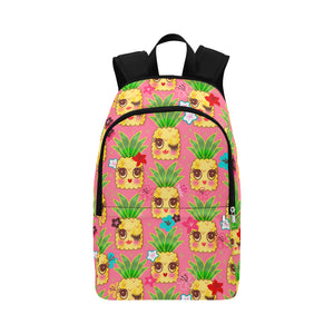 Happy Kawaii Cute Pineapples on Pink • Backpack