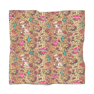 Lady Leopard Tattoo Flash • Chiffon Scarf