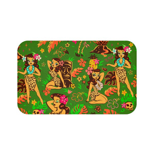 Tiki Temptress on Green • Bath Mat