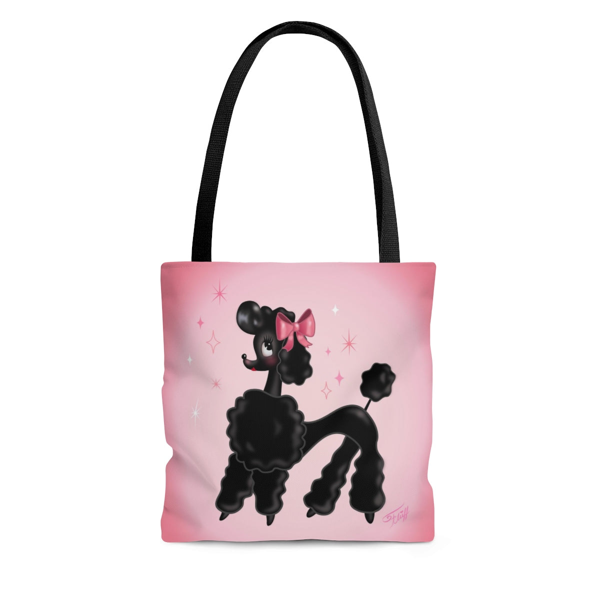 Pixie Poodle Black • Tote Bag